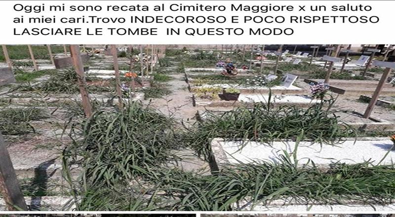 Ah … in che pessimo stato versa il cimitero Maggiore di Crema! E il Mastino Antonio Agazzi, già riceve e segnala..