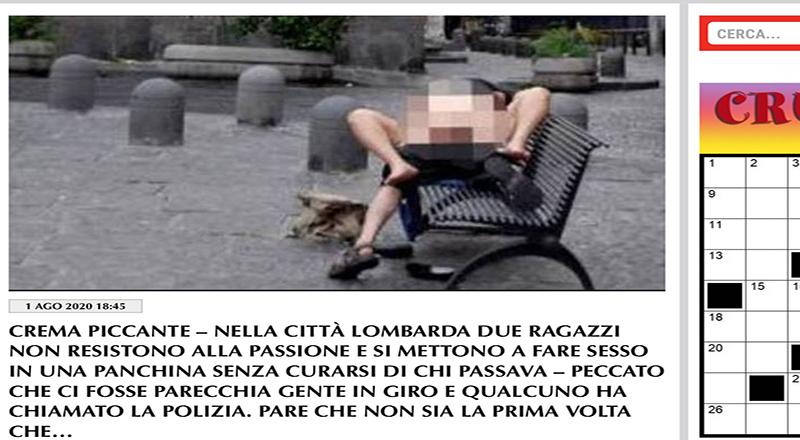 Clamoroso. Crema: in piazza Giovanni XXIII due ragazzi trombano come ricci e Dagospia riporta il tutto…