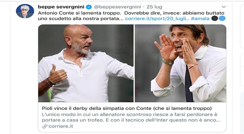 Ma è vero, come si sussurra, che mister Conte Antonio, ecco non ha gradito certi commenti del Dottor Severgnini Beppe da Crema?