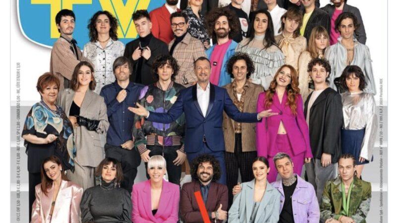 Ah che bel pacco (da toccare) in copertina su TV Sorrisi e Canzoni, per lanciare il Festival di Sanremo 2021, evento tutto da gustare