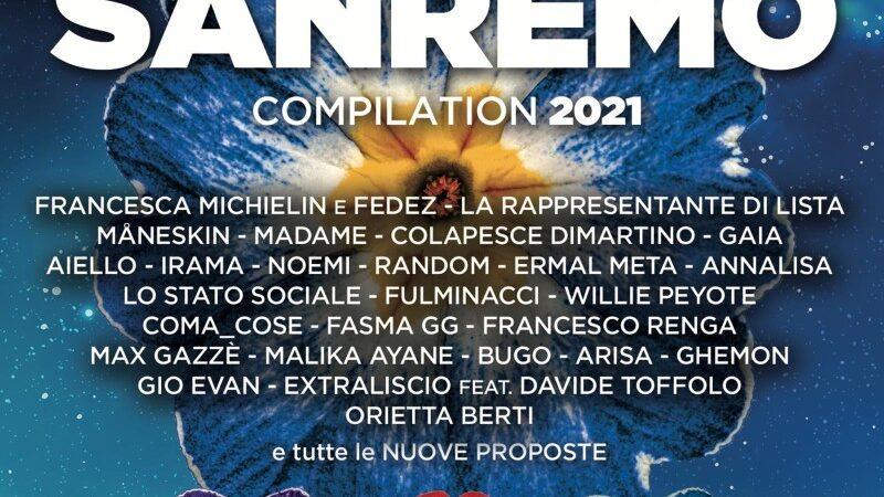 Domani esce la doppia compilation con tutti i brani di Sanremo 2021
