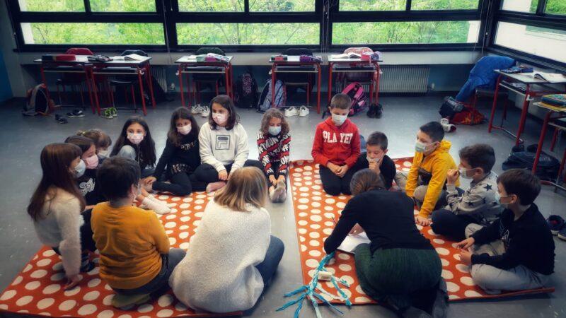 Il Franco Agostino è tornato in presenza con i bambini della Primaria di Ombriano