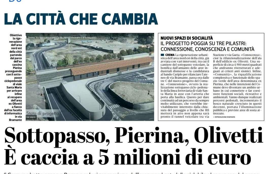 Jacopo Bassi, consigliere comunale Dem applaude l'assessore Cinzia Fontana e la partecipazione al bando nazionale 3 C del comune di Crema