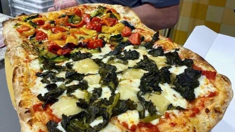 Grandioso a Crema, capitale del Granducato del Tortello: BB Pizza lancia la pizza al Salva Cremasco Dop e Friarelli. Che abbinamento col Rosato Cantina Caleffi