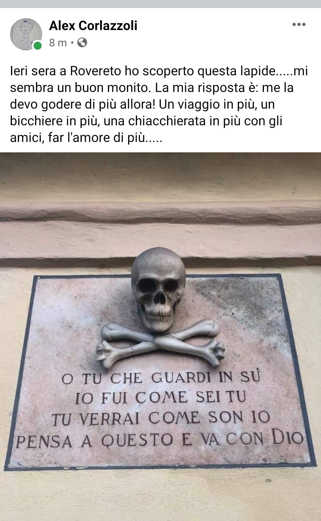 Il Maestro d'Italia (e tante alter cose) Alex Corlazzoli, filosofia attuale dopo chiusure e Lockdown invita a uscire di più, prenderla come viene e vivere