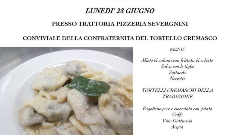 Clamoroso, o meglio, sacrilegio a Capralba: nel Borgo dell'Eretico Tortello (di Farinate), la Confraternita del Tortello Cremasco organizza una cena tradizionale
