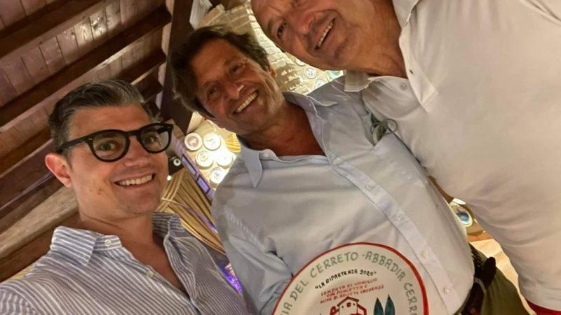 Grandioso all'Antica Osteria del Cerreto: il dottor Bettino Siciliani con Giuseppe Achille Busca, a cena in quel di Abbadia