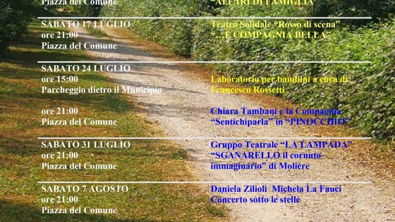 Casale Cremasco Vidolasco, torna puntuale Estate in riva al Serio, la rassegna estiva organizzata dal Comune.