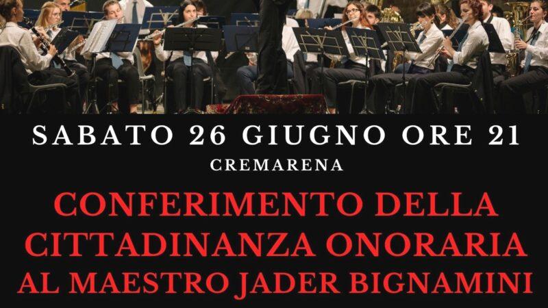 Jader Bignamini: il 26 giugno un concerto-evento per la sua cittadinanza onoraria