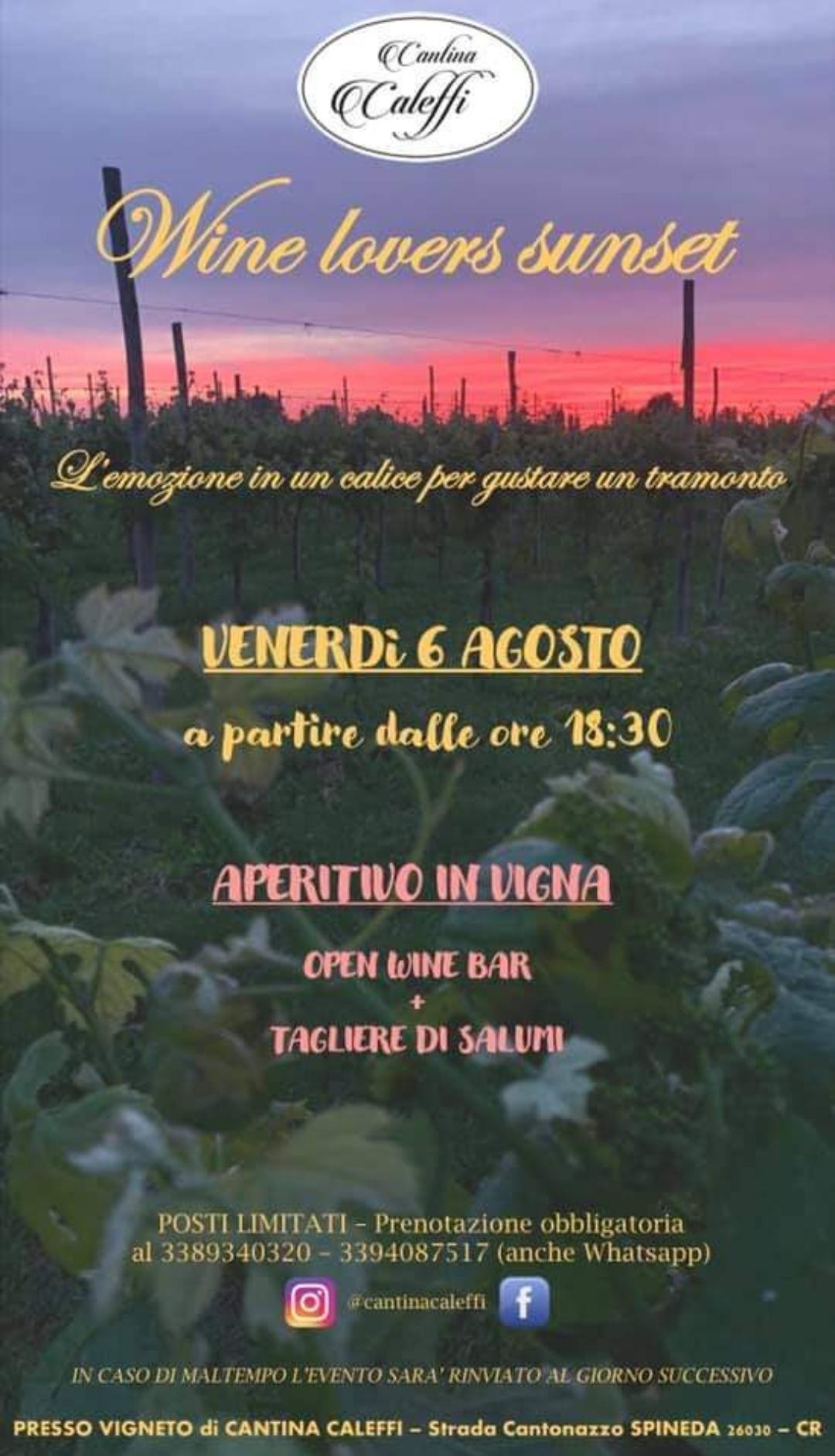 Grandioso in quel di Spineda, Granducato Magico (risparmiato dalla grandine): venerdì 6 agosto aperitivo in vigna alla Cantina Caleffi