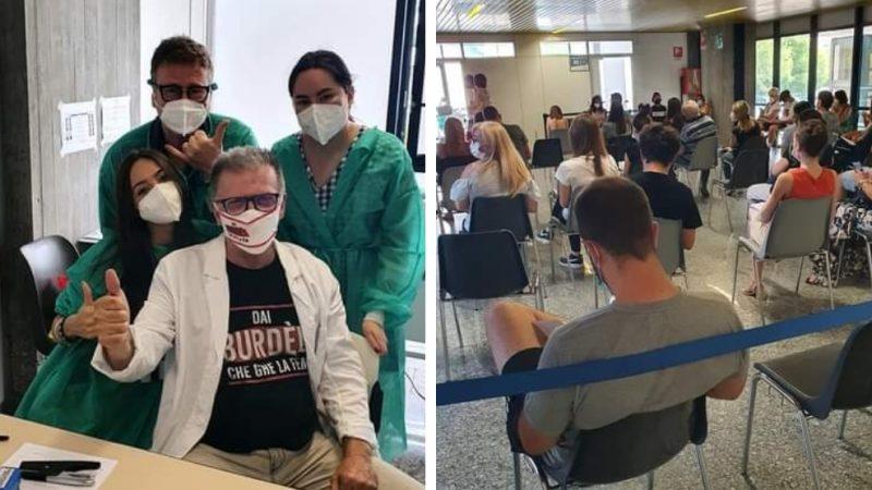 Le vacanze al lavoro e vaccinando di Maurizio Borghetti, DocRock d'Italia in trincea contro il maledetto virus