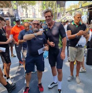 A Rimini per l'Italian Bike Festival, il cicloriparatore Pazzo Graziano Bossi, beh si è imbattuto in Mario Cipollini