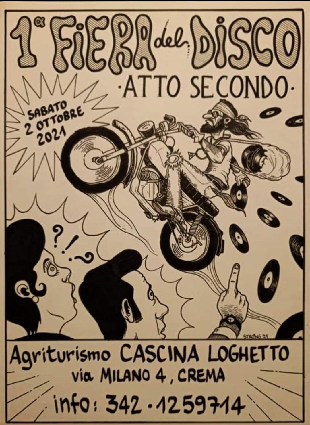 """Clamoroso all'Agriturismo (Ah … come si mangia bene da quelle parti) Loghetto di Crema è in arrivo la versione autunnale della """"Prima Fiera del Disco"""""""