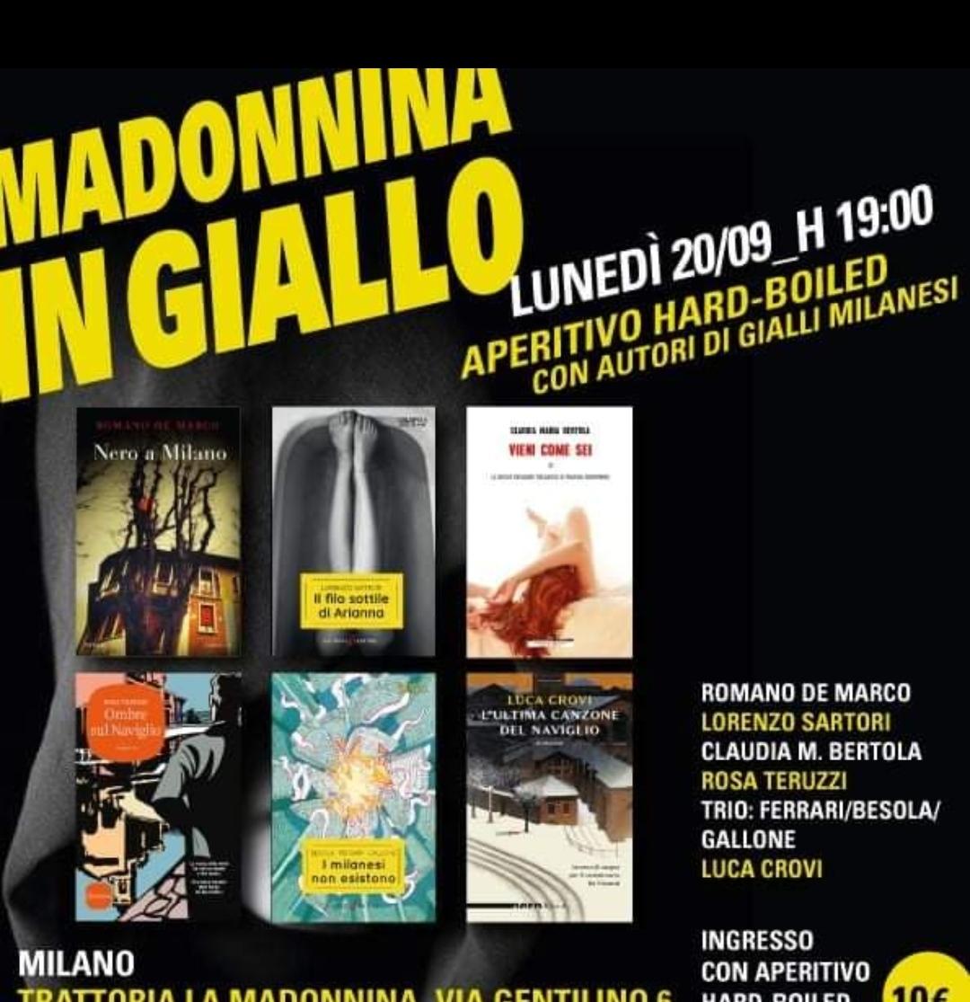 Grandioso a Milano: lunedì prossimo alla Trattoria La Madonnina ci sarà pure lo scrittore (e giallista) cremasco Lorenzo Sartori