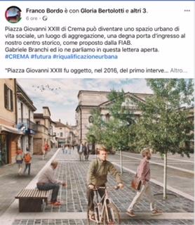 Franco Bordo, Crema Futura e la Fiab vogliono pedonalizzare Piazza Giovanni XXIII a Crema? Mah … Il dottor Umberto Cabini lancia uno spunto