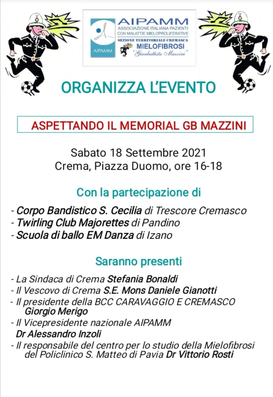 Aspettando il Memorial Gianbattista Mazzini – in campo per la solidarietà