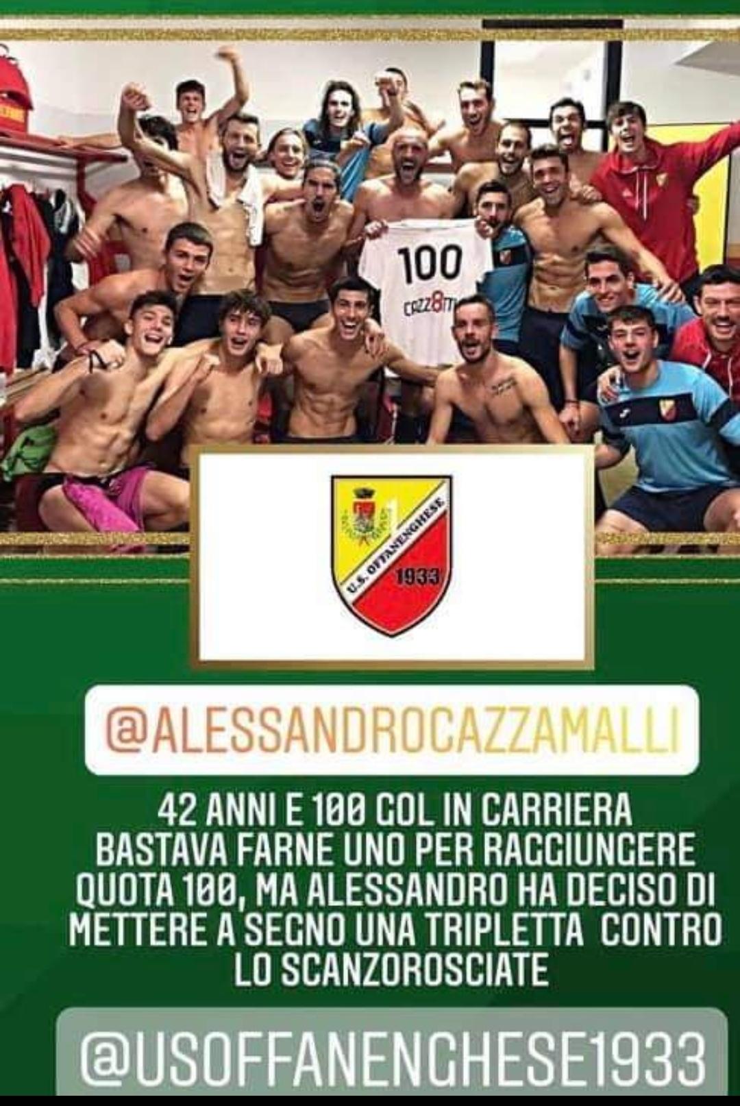 Chapeau al centrocampista cremasco, Evergreen del Calcio Italiano, Alex Cazzamalli … punto di Forza dell'ambiziosa Offanenghese