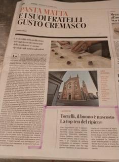 I Tortelli Cremaschi protagonisti coi ristoranti del Granducato del Tortello di un bel servizio ospitato sullo storico quotidiano Il Giorno