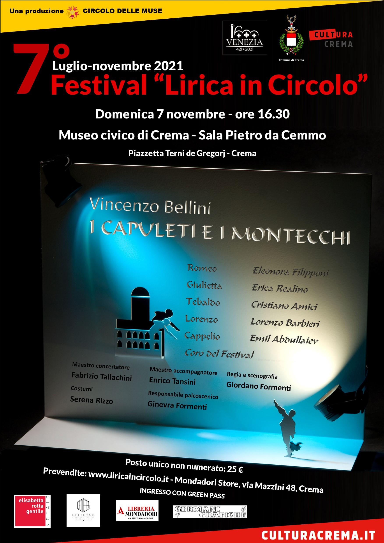 Circolo delle Muse, al via la VII edizione del Festival Lirica in Circolo con I Capuleti e i Montecchi di Bellini